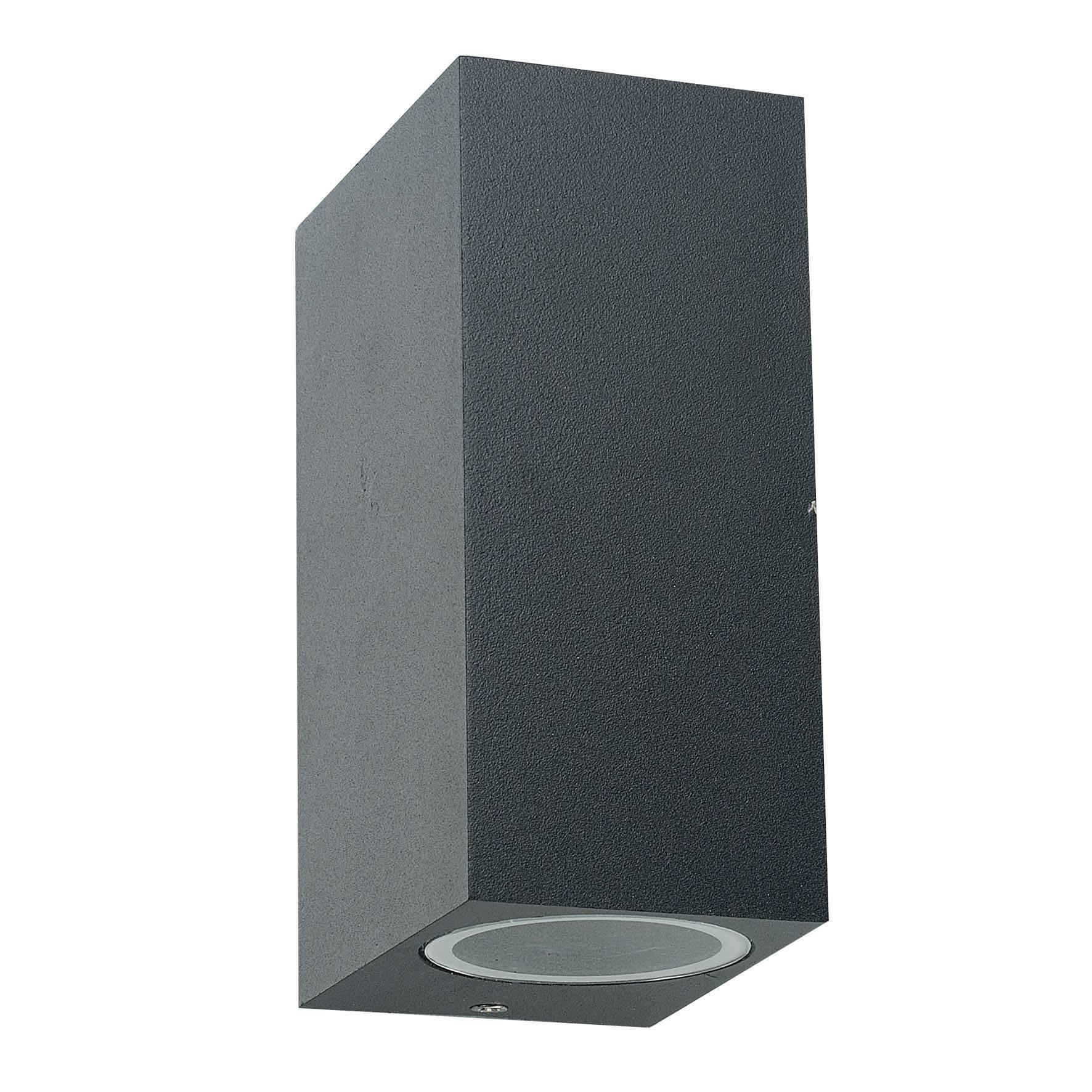 maluxled onlineshop au enleuchte up down light eckig f r gu10 ip54 schwarz. Black Bedroom Furniture Sets. Home Design Ideas